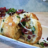 Bacon Mozzarella Accordian Bread Featured at Wednesday Link Party