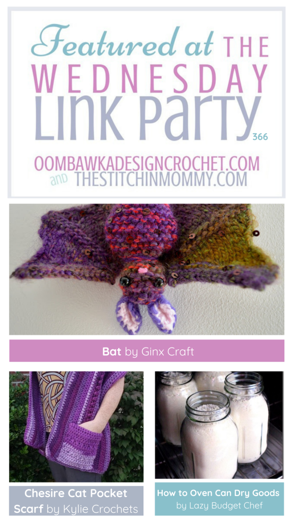 Bat Pocket Wrap Oven Can Featured at Wednesday Link Party366
