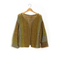 Boxy Cardigan - Yarnspirations - Featured Free Pattern Friday ODC