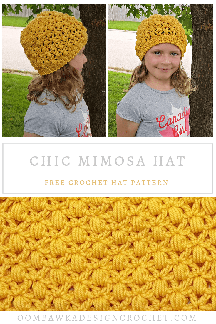 Chic Mimosa Crochet Hat Pattern from Oombawka Design Crochet PIN