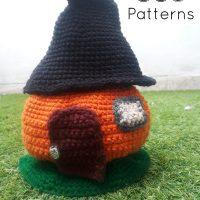 Crochet Pumpkin House - LHH - Featured Free Pattern Friday