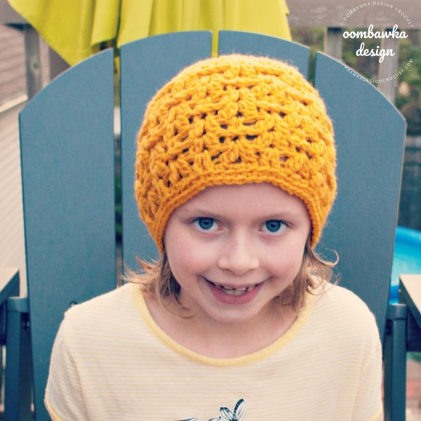 Delight Hat ODC Child Size in Solid Color Oombawka Design Crochet