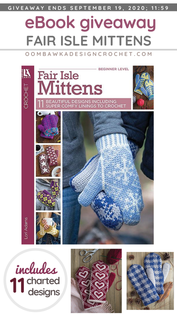 Fair Isle Mittens eBook from LeisureArts Giveaway ends Sep 19 2020 1159 pm ET PIN