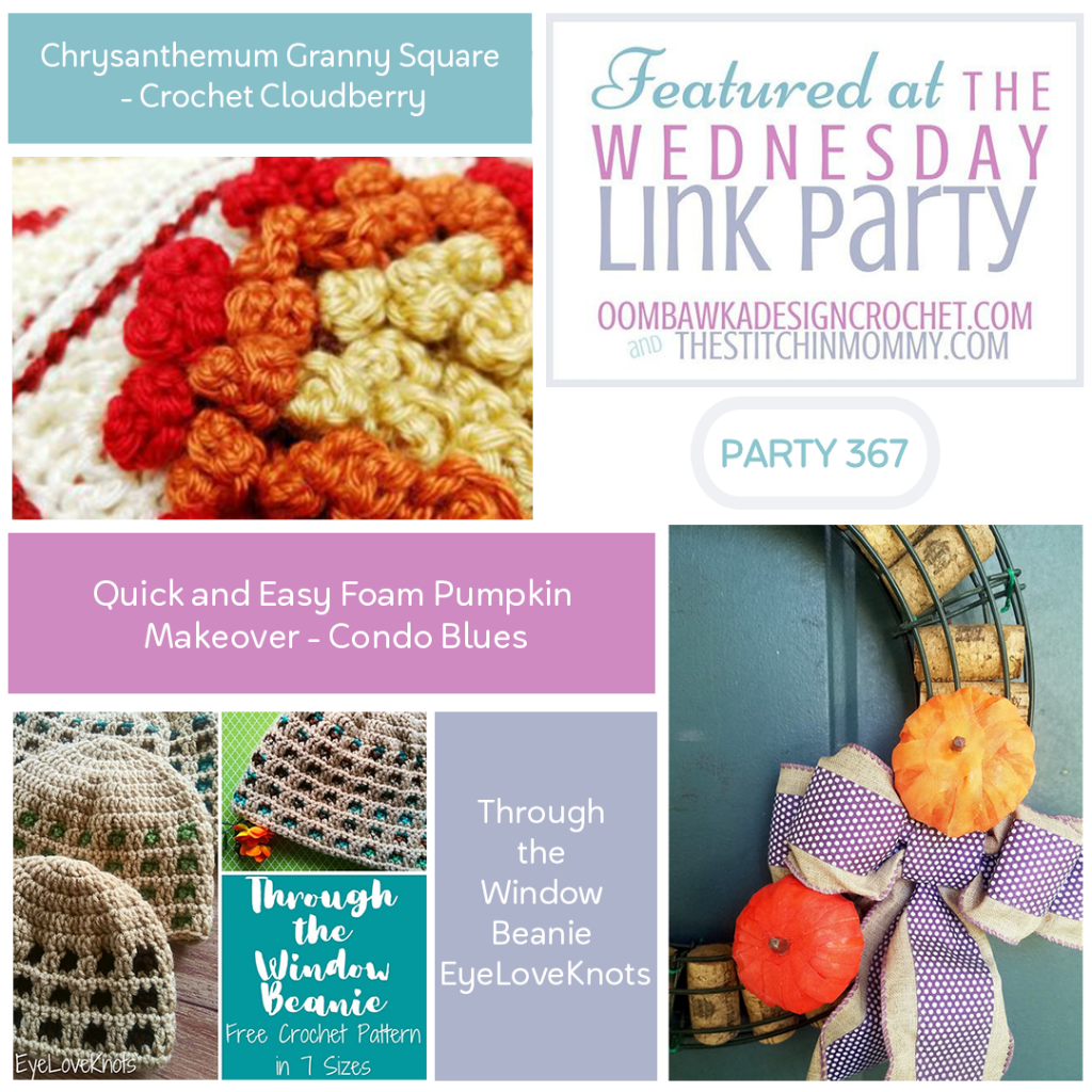 Featured Wednesday Link Party 367 Granny Square - Pumpkin - Beanie