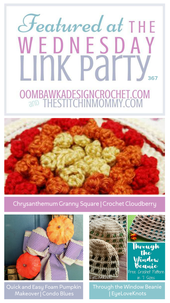 Featured at Wednesday Link Party 367 Granny Square - Pumpkin - Beanie
