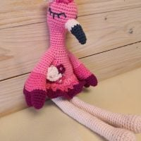 Flamingo Amigurumi - Frau Tschi Tschi - Featured Wednesday Link Party 364