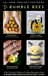 Free Crochet Bumble Bee Patterns - Oombawka Design Crochet