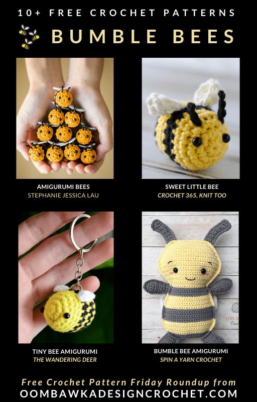 Free Crochet Bumble Bee Patterns - Oombawka Design Crochet