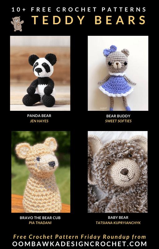 Free Crochet Teddy Bear Patterns Free Pattern Friday