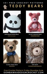 Free Pattern Friday Crochet Teddy Bear Patterns