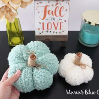 Fuzzy Pumpkins - Marias Blue Crayons - Free Pattern Friday