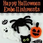 Happy Halloween Embellishments | Free Patterns | oombawkadesigncrochet.com