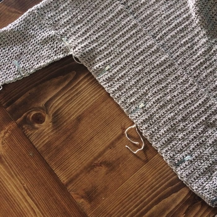 Assembly Step 5. The Parker Cardigan by Meghann Chupp Guest Post for Oombawa Design Crochet 2018