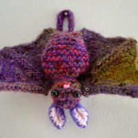 Knit Bat Ginxcraft Featured at Wednesday Link Party366
