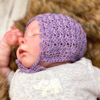 Simple Crochet Baby Bonnet Love Life Yarn