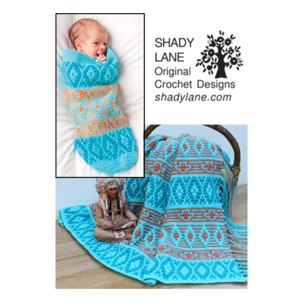 Native American Afghan and Baby Cocoon ePattern Shady Lane Original Crochet Designs