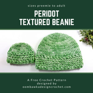Get this Free Hat Pattern Today! The Peridot Textured Beanie