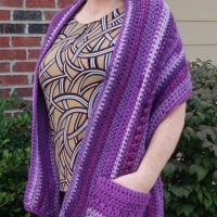 Pocket Wrap Kylie Crochets Featured Wednesday Link Party366