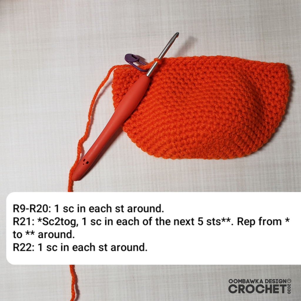 Crochet Pumpkin Tutorial 5 #CALCentralCrochet #HalloweenCAL2020