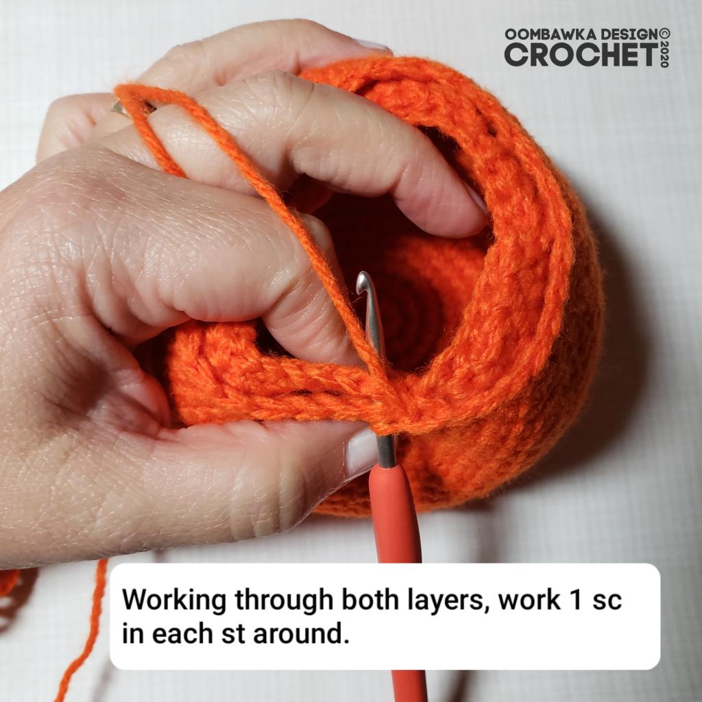 Crochet Pumpkin Tutorial 8 #CALCentralCrochet #HalloweenCAL2020