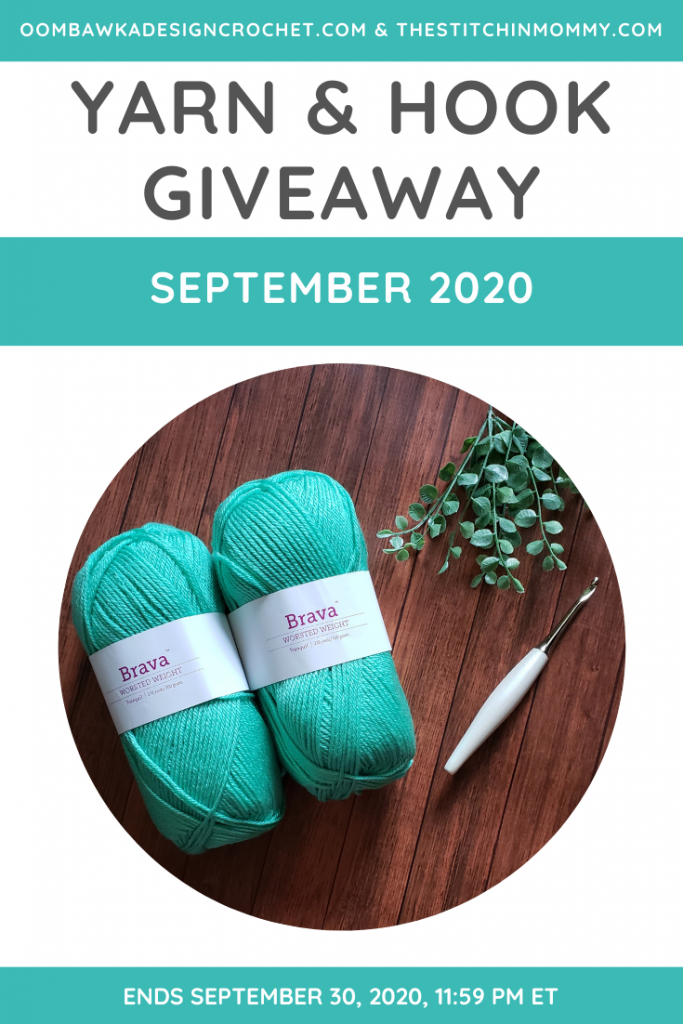 September 2020 Yarn and Hook Giveaway ends Sep 30 2020 1159 pm ET