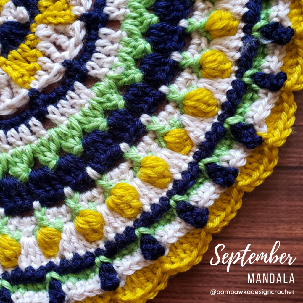 September Mandala Pattern Oombawka Design Crochet #2020PicotBlogHop #wecrochet #stitchandhustle