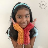 StitchinMommy - Tropical Sunset Fingerless Mitts