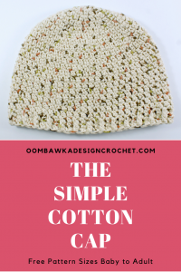 The Simple Cotton Cap Pattern