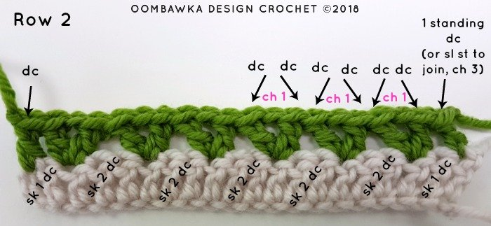 Tulip Stitch Crochet Pattern Tutorial by Oombawka Design Crochet Image 2