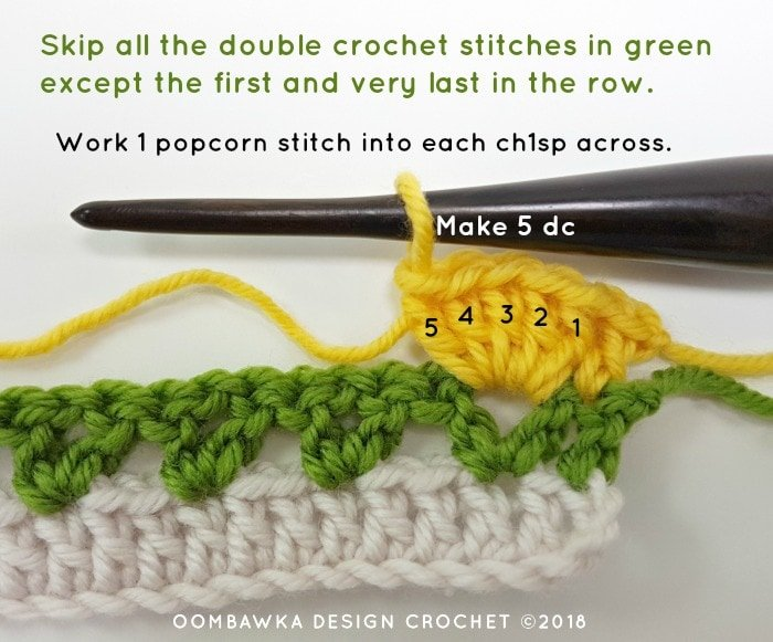 Tulip Stitch Crochet Pattern Tutorial by Oombawka Design Crochet Image 3b