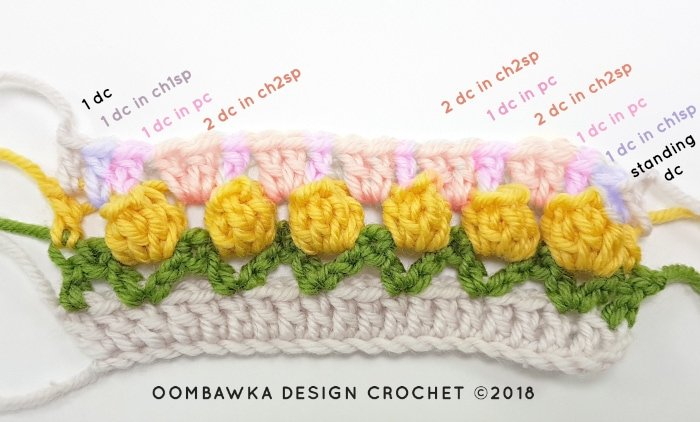 Tulip Stitch Crochet Pattern Tutorial by Oombawka Design Crochet Image 4c