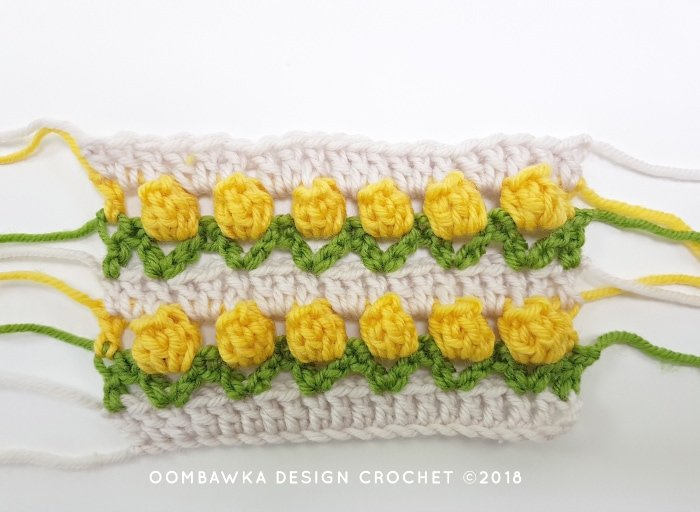 Tulip Stitch Crochet Pattern Tutorial by Oombawka Design Crochet Image 6