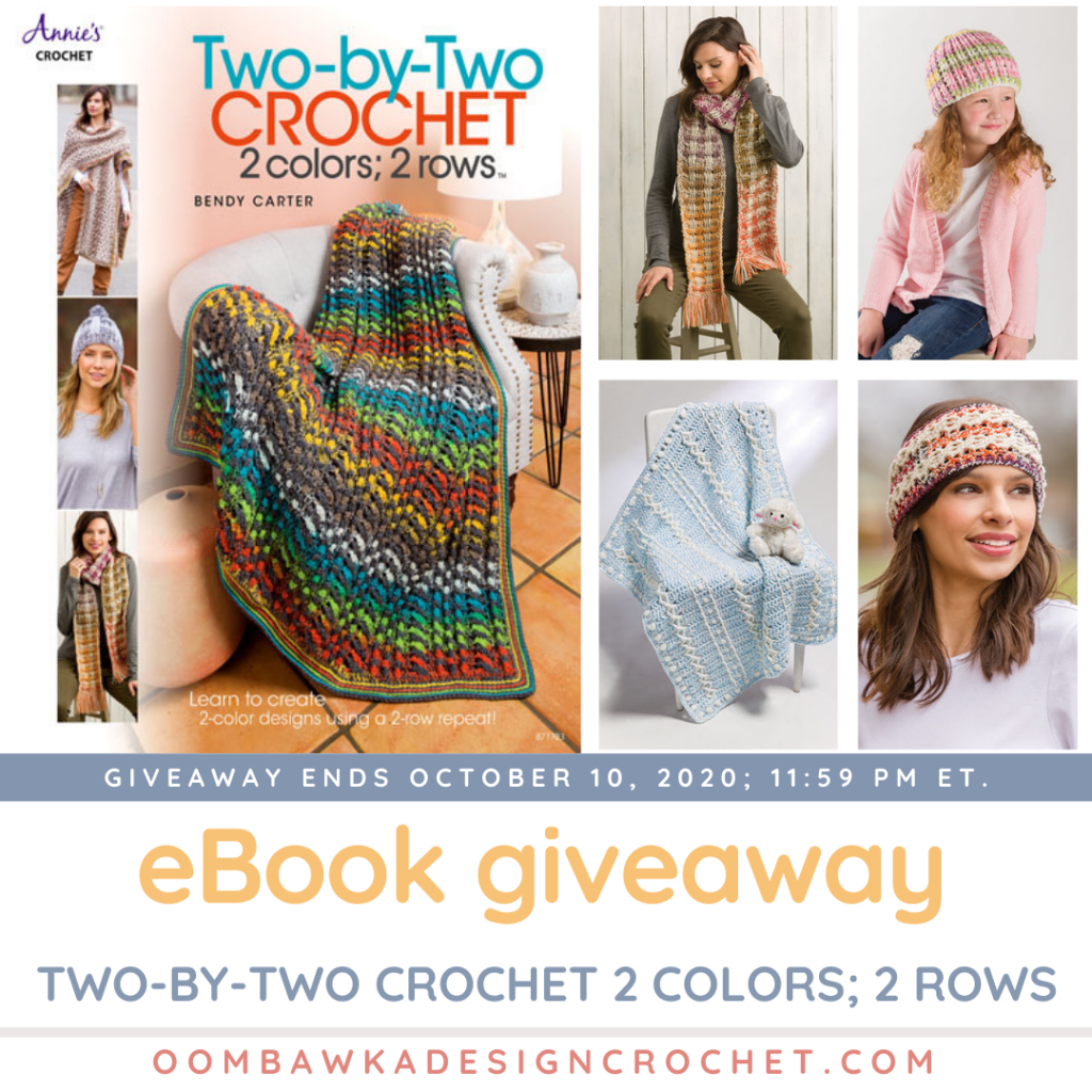 Two-By-Two Crochet ebook giveaway - 8 textured projects - ends October 10 at 1159pmET