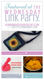 Wednesday Link Party 365 - Crossbody Bag - Knot Bag - Instant Pot Pumpkin - ODC