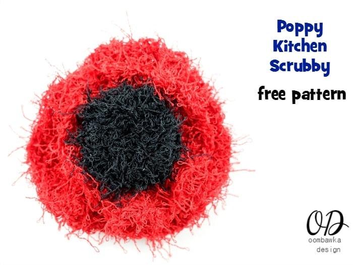 Poppy Scrubby | Free Pattern | oombawkadesigncrochet.com
