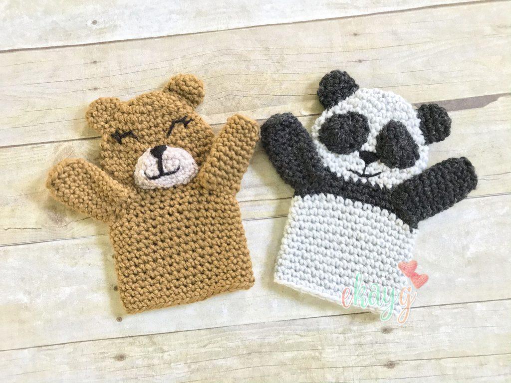 Bear and Panda Puppets by Erin Greene
