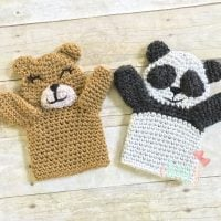 Bear and Panda Puppets by Erin Greene