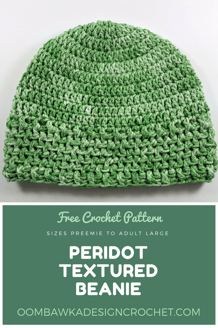 sizes preemie to adult large Peridot Textured Beanie ODC