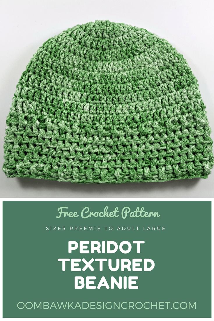 sizes preemie to adult large Peridot Textured Beanie ODC