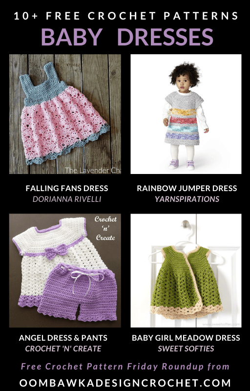 Crochet Baby Dresses can be quick and easy projects to make AND they make perfect handmade gifts. #babycrochet #crochetgift #freepattern