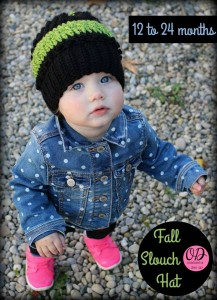 Fall Slouch Hat 12 months to 24 months