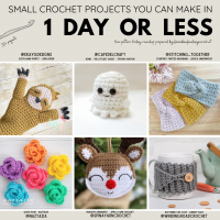 With more than 30 free crochet patterns for projects you can make in 1 day or less! Instagram Share Image Features @ekaygdesigns @cafedelcraft @stitching_together @naztazia @spinayarncrochet @windingroadcrochet. Pop by to show them some love! #communityovercompetion