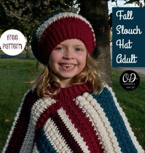 Adult Fall Slouch Hat Pattern