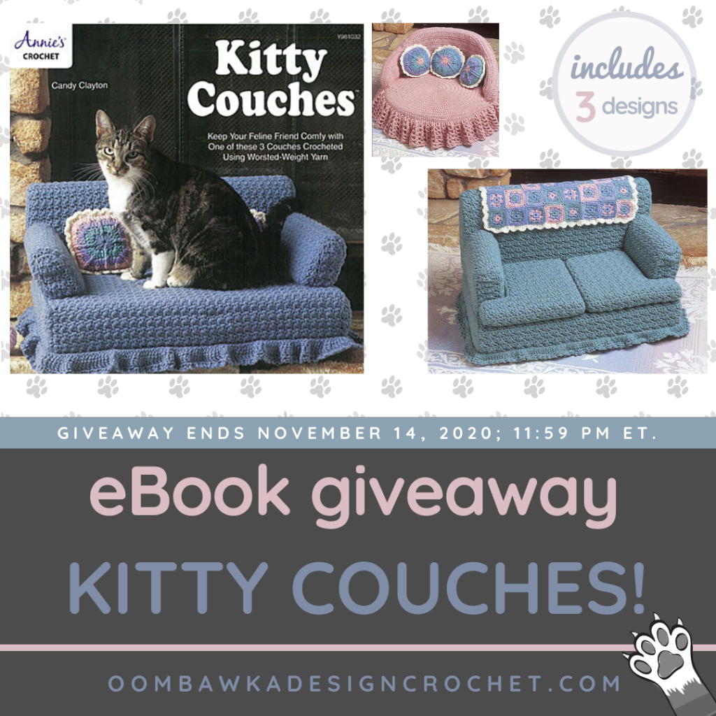 ANNIE'S KITTY COUCHES GIVEAWAY ENDS NOV 14 2020 1159 PM ET
