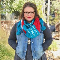 Featured at Free Pattern Friday Abstractly Chic Shawl by Marly Bird