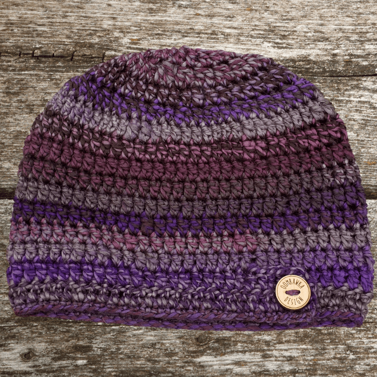 Ametrine Button Hat Pattern ODCrochet2020