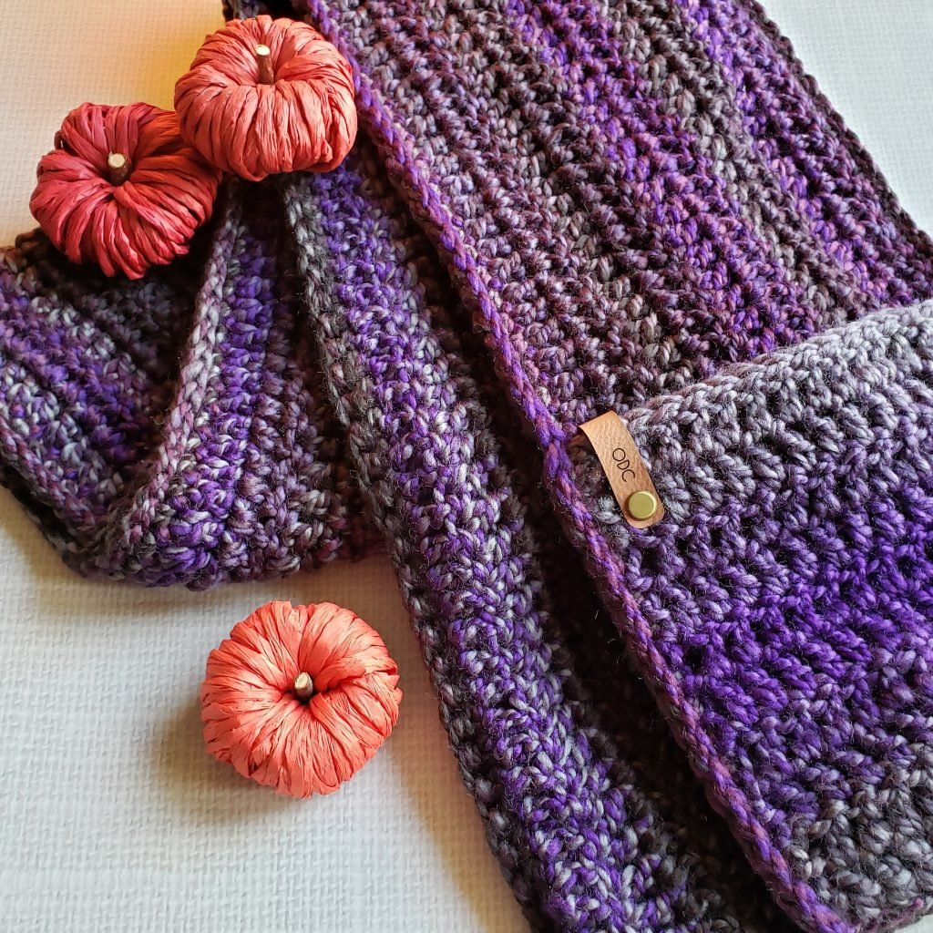 Ametrine Hooded Pocket Scarf Pattern Oombawka Design Crochet 2020