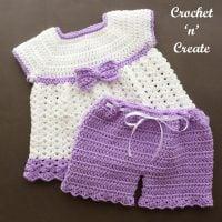 Angel Dress and Pants by Crochet 'n' Create