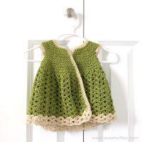 Baby Girl Meadow Cardigan Dress by Sweet Softies