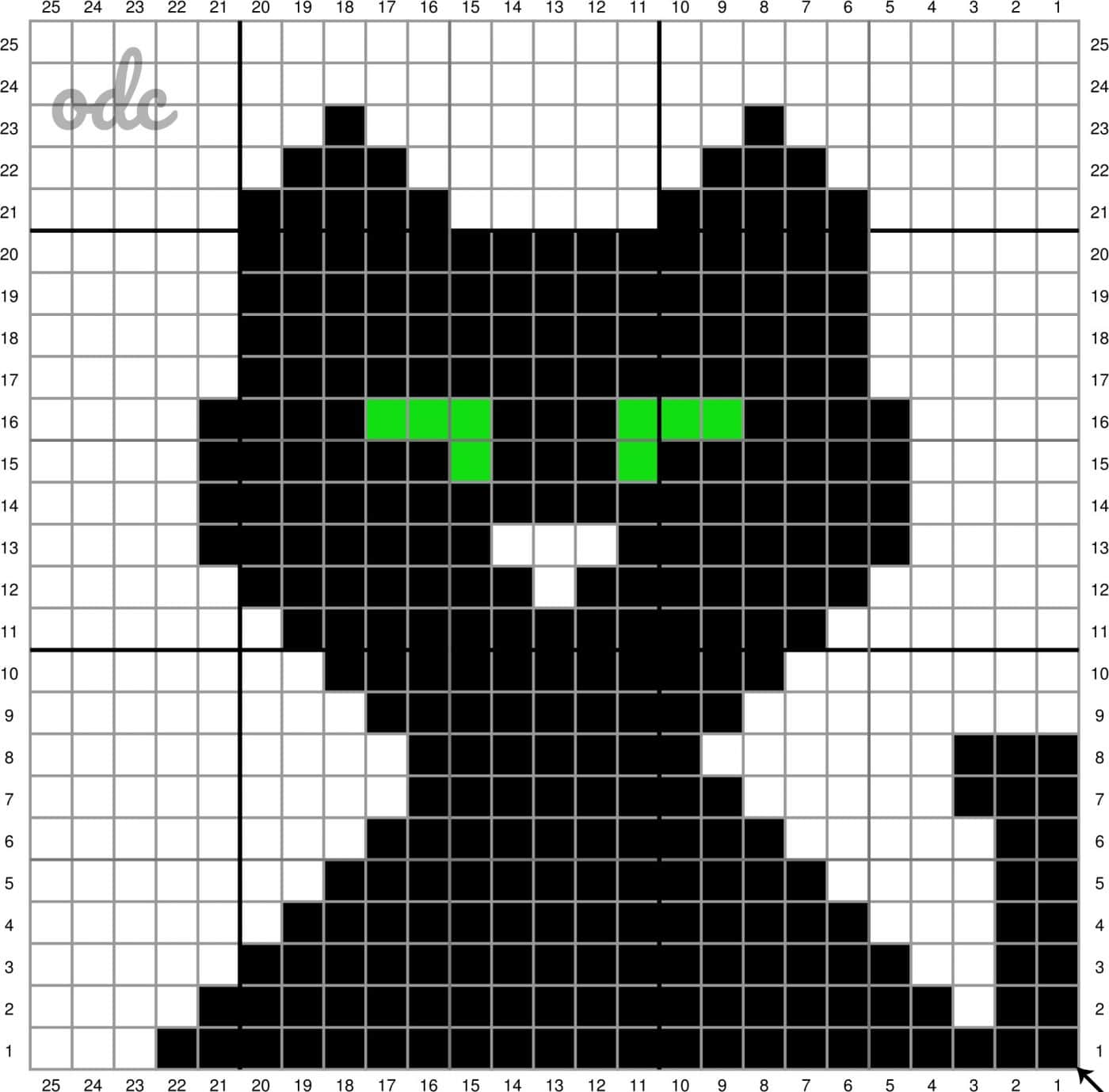 Black Cat Grid Oombawka Design